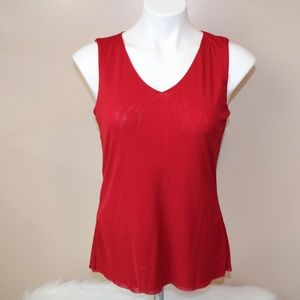 Sigrid Olsen red double nylon tank top